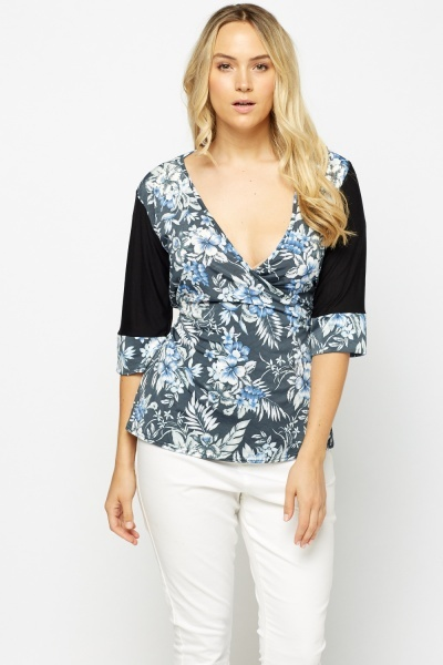 Wrap Tie Up Plunge Top