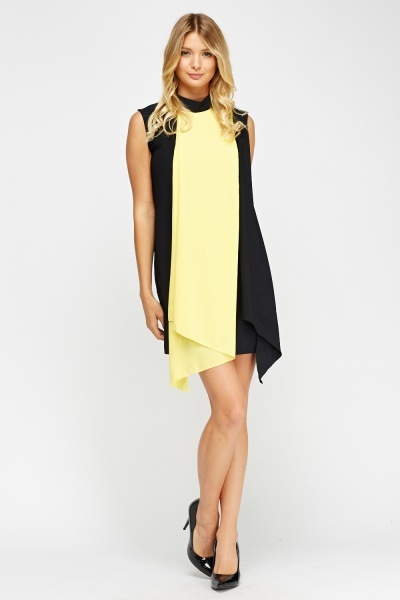 Two Tone Asymmetric Dress