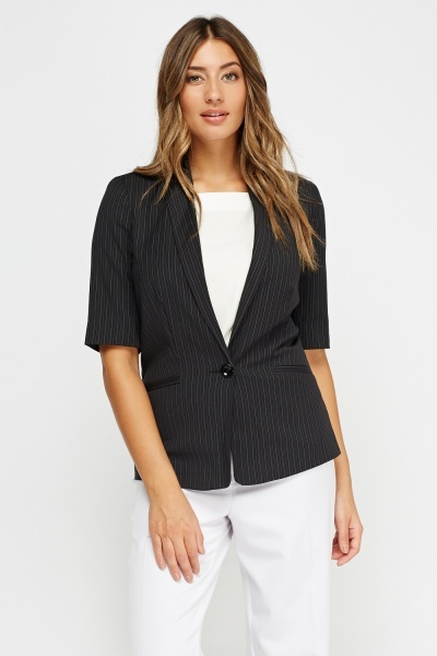 3/4 Sleeve Striped Blazer