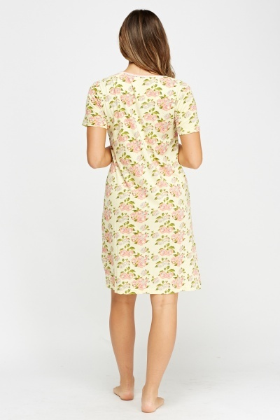 Floral Print Night Dress