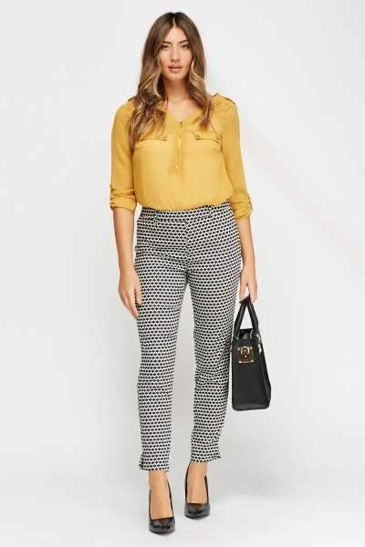 Mono Printed Trousers