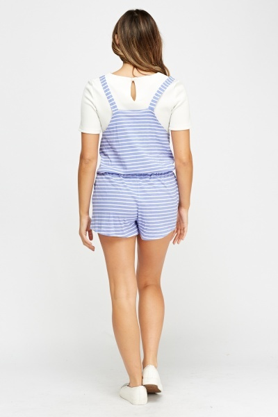 Striped Pinafore Playsuit