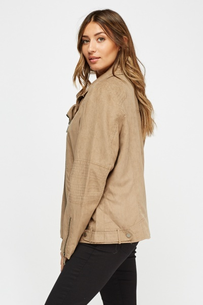Suedette Casual Jacket