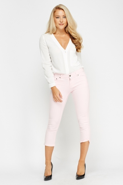 Cropped Slim Fit Jeans