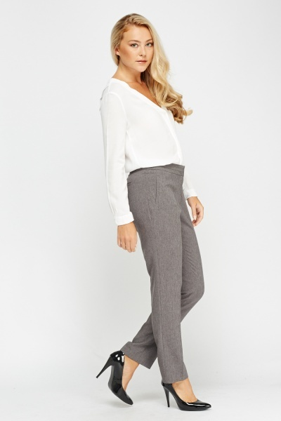 Grey Tailored Formal Trousers