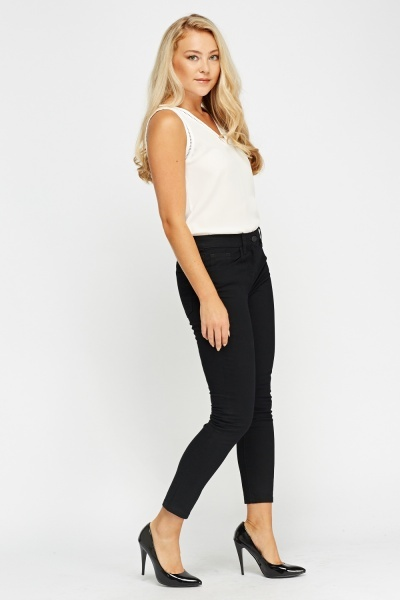 Slim Fit Black Jeans
