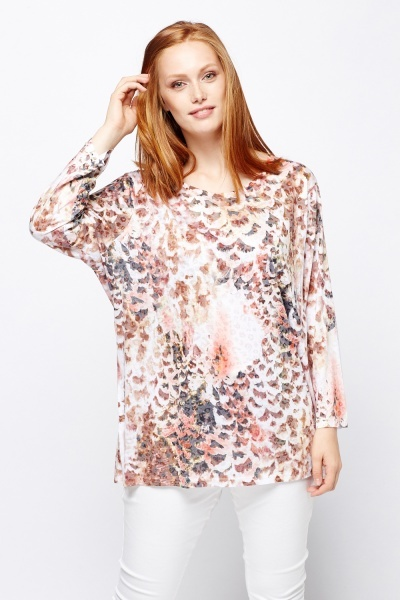 Mix Printed Casual Top
