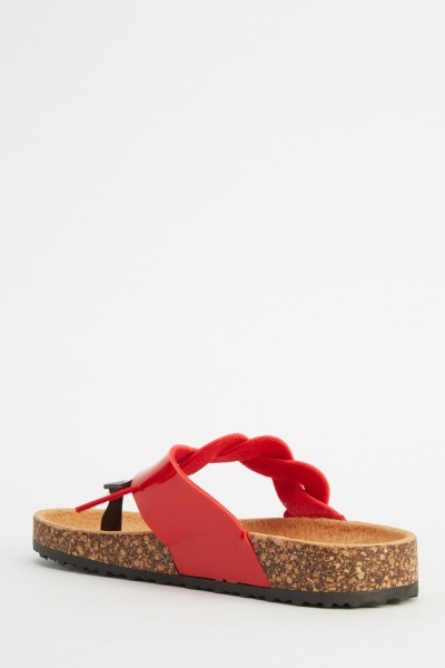 Plait PU Sandals