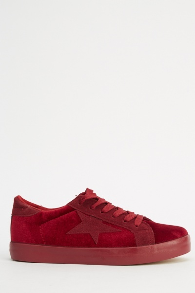 Velveteen Low Top Trainers