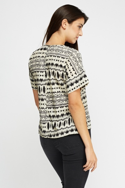 Geo Printed Box Top