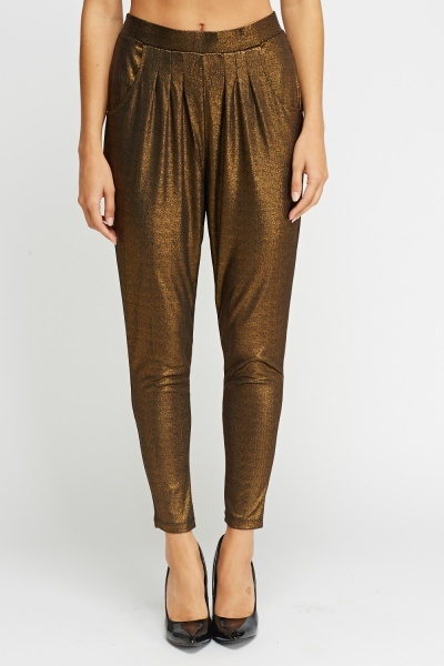 Metallic Elastic Trousers