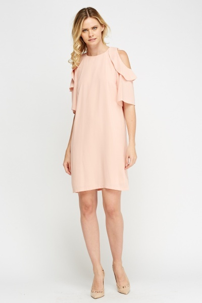 Cold Shoulder Flared Dress
