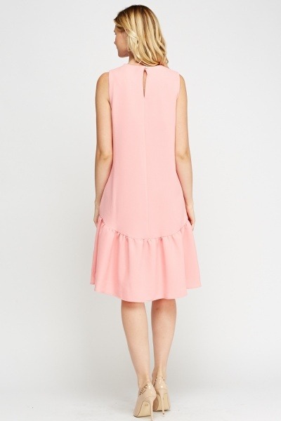 Flared Hem Shift Dress