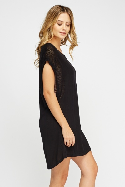 Knitted Short Sleeve Dress