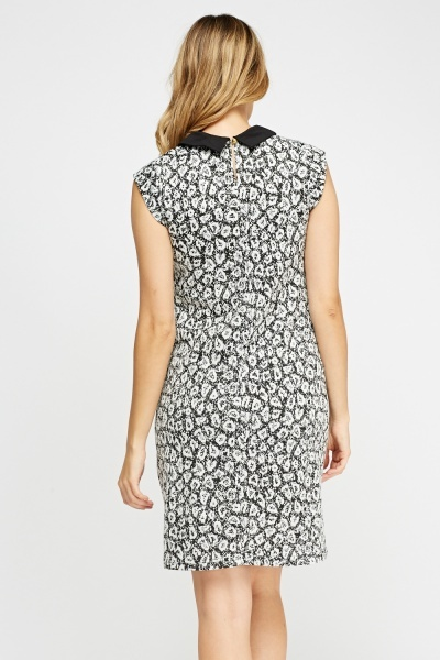Textured Collar Shift Dress