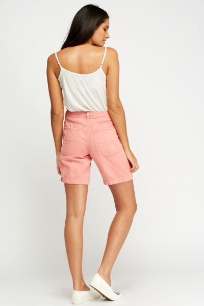Cotton Blend Casual Shorts