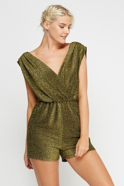 Metallic Wrapped Playsuit