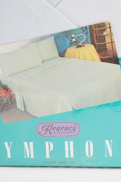 Light Blue Double Bed Sheet Set