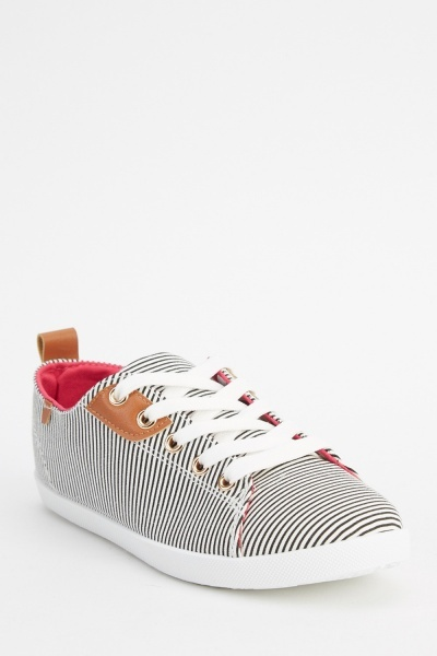 Striped Lace Up Shoes