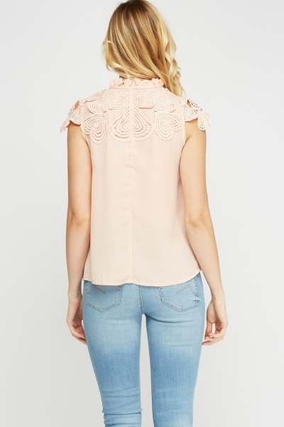 Crochet High Neck Top