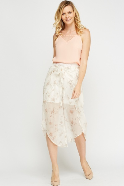 Wrapped Sheer Culottes