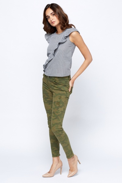 Camouflage Distressed Jeans