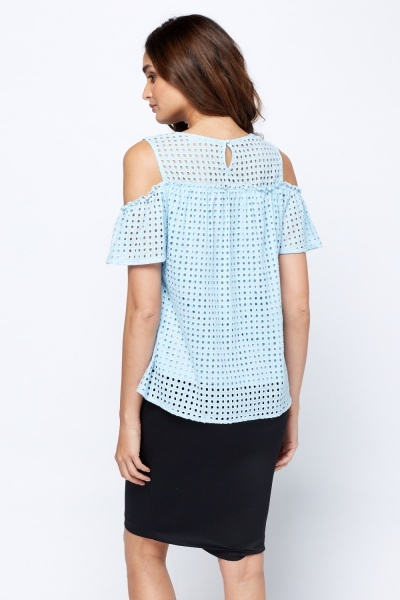 Laser Cut Casual Top