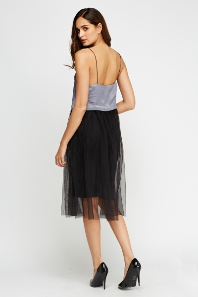 Mesh Skirt Bodice Dress