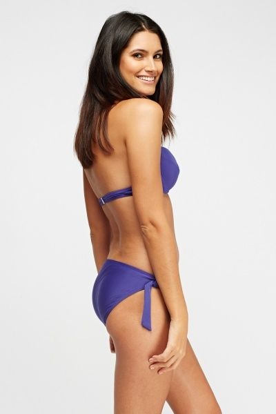 Purple Twist Front Bikini Set