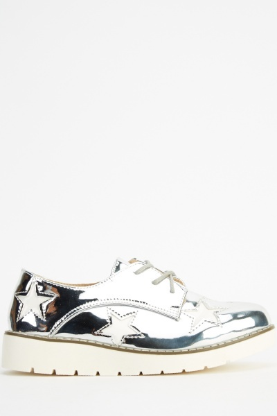 Holographic Star Lace Up Shoes