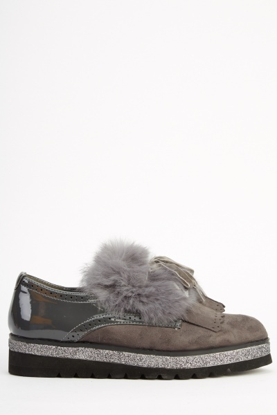 Sergio Todzi Contrast Faux Fur Shoes