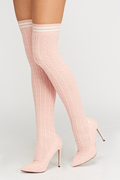 Sergio Todzi Over The Knee Sock Heeled Boots