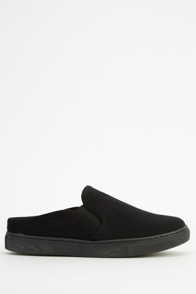 Suedette Slip On Pumps