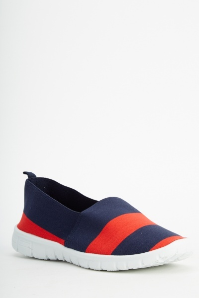 Two Tone Striped Shoes