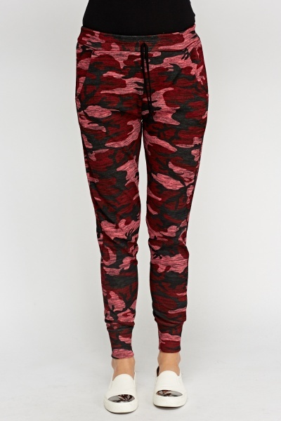 Camouflage Printed Jogger Pants