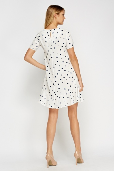 Polka Dot Flare Hem Dress