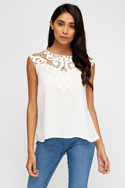 Crochet Contrast Top