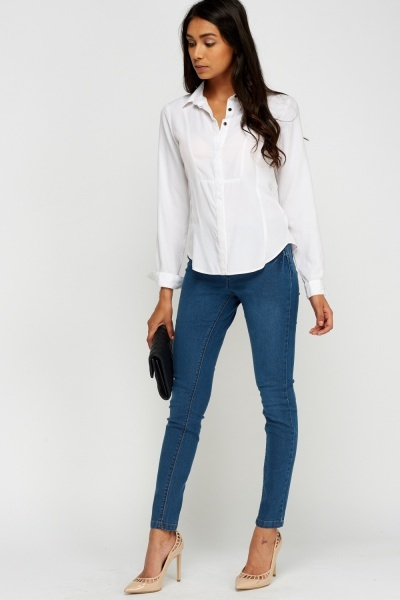 Skinny Fit Middle Blue Jeans
