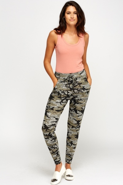 Camouflage Speckled Jogger Pants