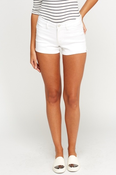 Denim White Shorts