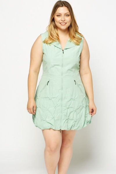 Ruched Hem Zipped Dress