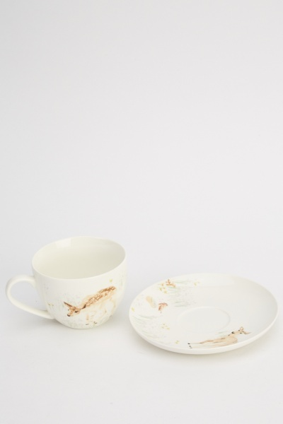 Fine China Breakfast Cup And Saucer