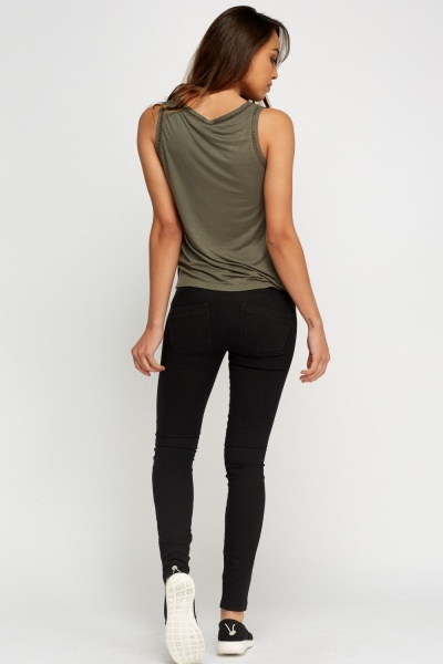 Slim Fit Charcoal Jeggings