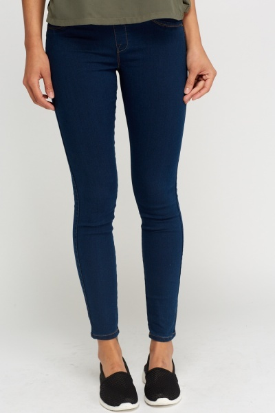 Slim Fit Dark Blue Jeggings