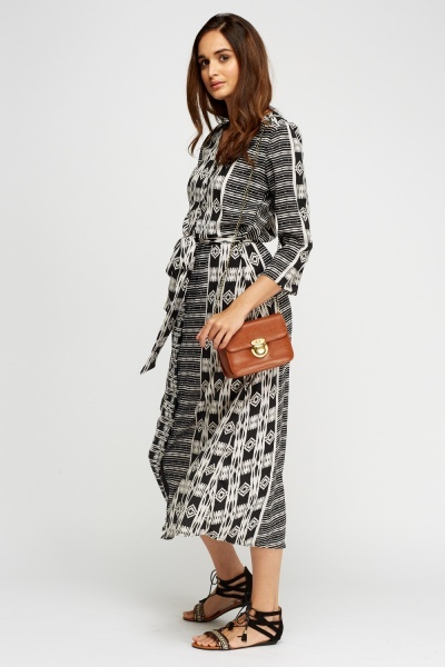 Mono Printed Shirt Dress