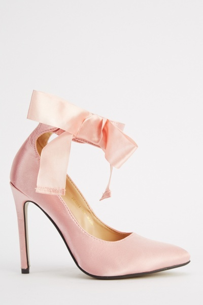 Bow Ankle Strap Court Heels