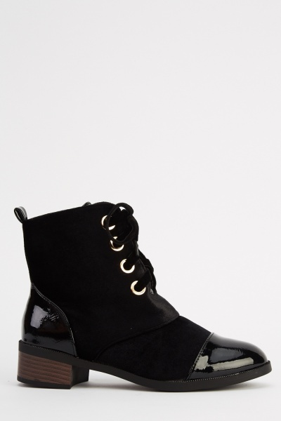 Sergio Todzi Lace Up Contrast Ankle Boots