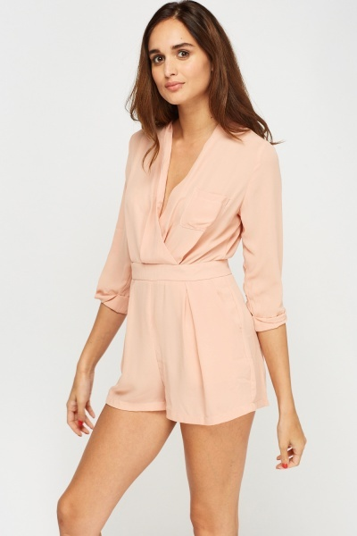 Wrap Sheer Playsuit