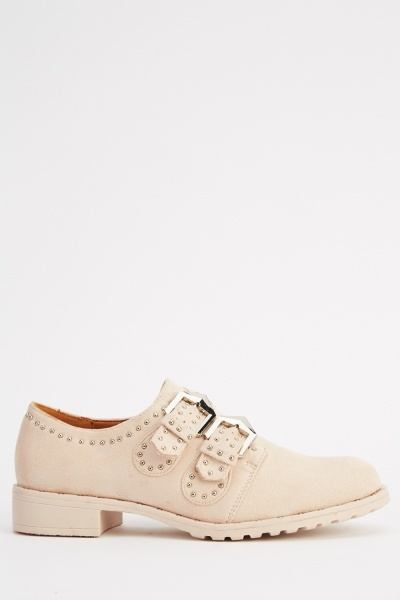 Ideal Buckle Studded Shoes