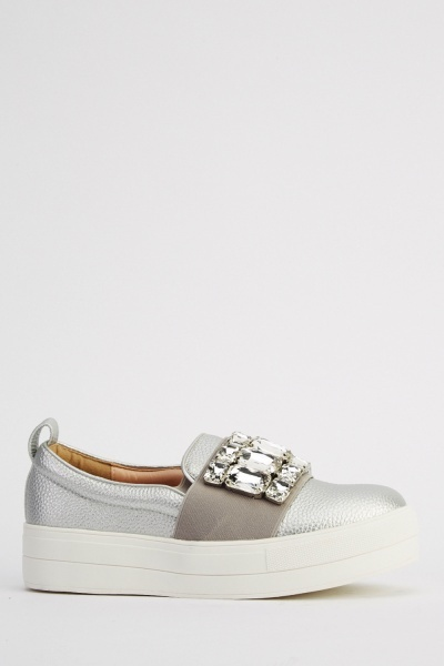 Ideal Diamonte Flatform Shoes